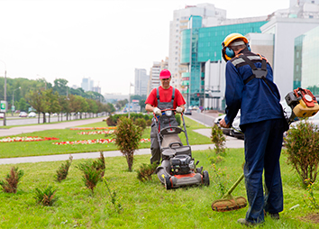 Hiring a landscaper will keep your areas clean.